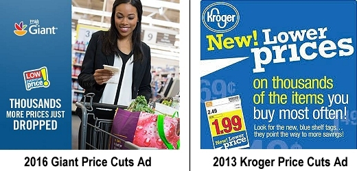 Giant and Kroger price cuts
