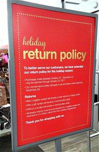 consumer world return policies return policy. Black Bedroom Furniture Sets. Home Design Ideas