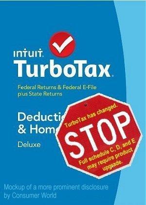 TurboTax Change Notice mockup